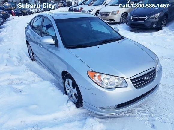 2009 Hyundai Elantra Sport,AIR,TILT,CRUISE,CD,PW,PL,VERY CLEAN, LOOK AT THE KMS!!!  SUNROOF, ALUMINUM WHEELS, MANUAL