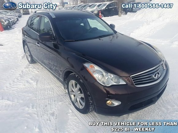 2010 Infiniti EX35 Journey,AWD,LEATHER,SUNROOF,NAVIGATION,AIR,TILT,CRUISE,PW,PL,LOCAL TRADE, VERY CLEAN!!!!