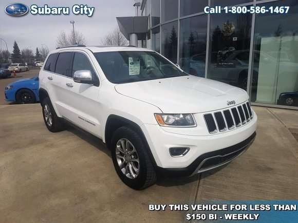 2015 Jeep Grand Cherokee Limited,LEATHER,SUNROOF,BACK UP CAMERA,4X4,CLEAN CARPROOF,LOCAL TRADE!!!!