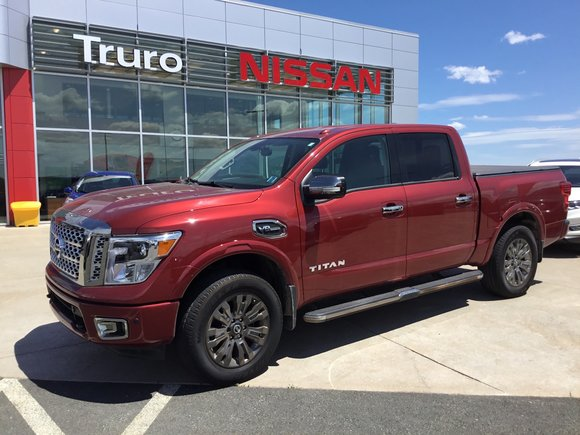 2017 Nissan Titan Platinum Low B/W  Payment