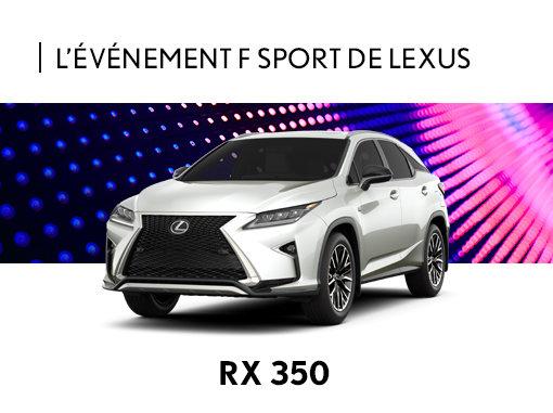 Promotion Lexus RX neuf à Montréal