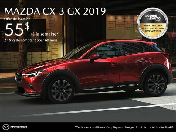 Mazda CX-3 neuf en promotion à Montréal