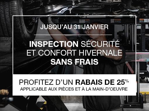 Inspection sécurité et confort hivernale sans frais
