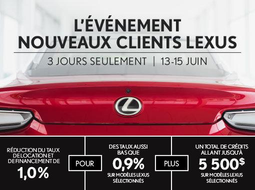 L'Événement Nouveaux Clients Lexus