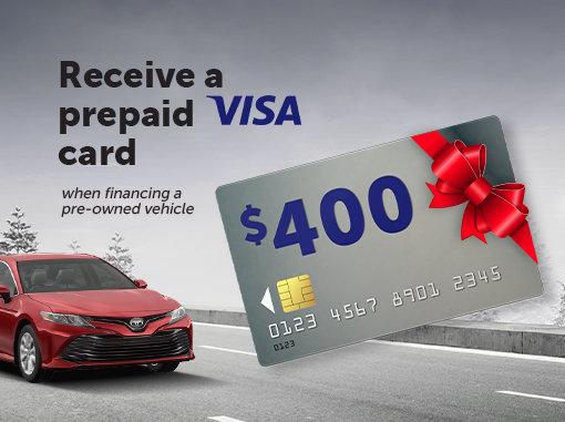 Get a $400 Pre-Paid Visa Card
