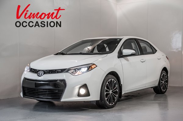 Toyota Corolla S+A/C+CUIR+TOIT+MAGS 17+FOGS+CAMERA RECUL 2014