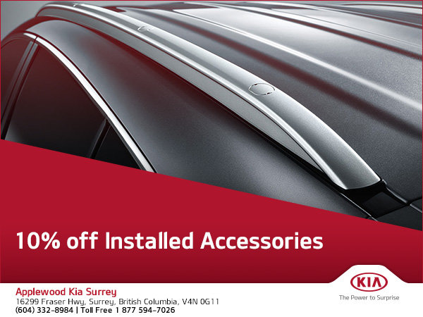 10% Off Installed Accessories