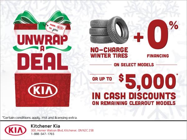 Unwrap a Deal with Kia!