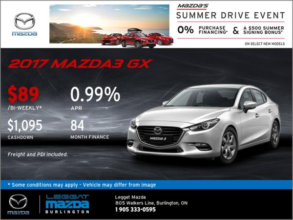 Save on the 2017 Mazda3 GX