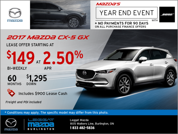 Save on the 2017 CX-5 GX Today!