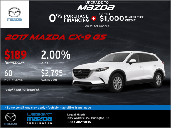 Get the 2017 Mazda CX-9 GS Today!