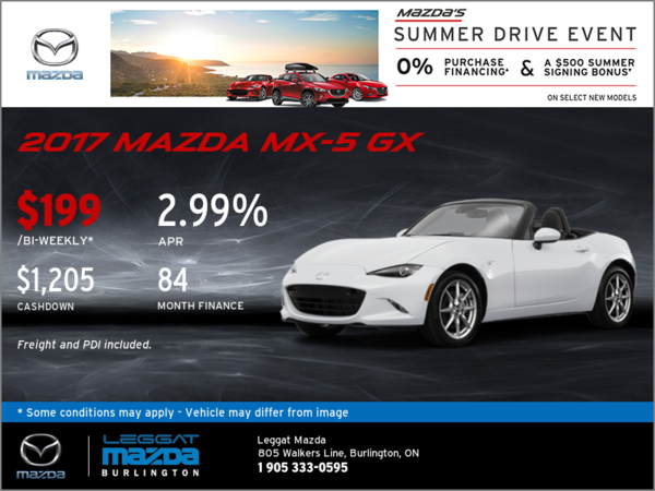 Save on the New 2017 Mazda MX-5 GX