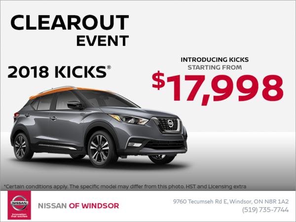 Get the new Nissan Kicks!