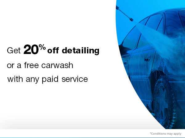 Get 20% Off Detailing or A Free Car Wash!