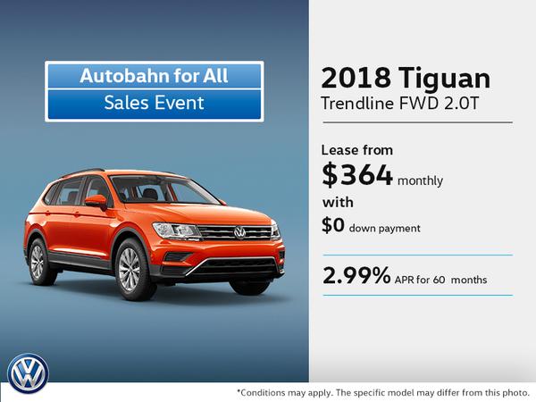 Get the 2018 Tiguan Today!