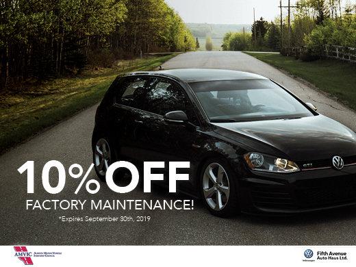 10% OFF Factory Maintenance