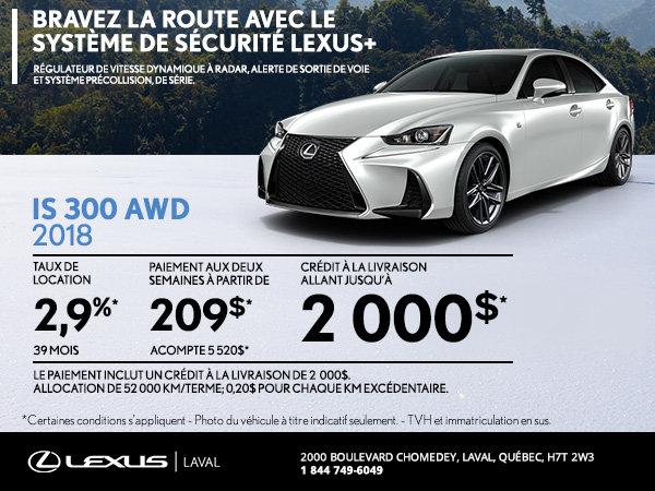 Lexus IS 2018 en rabais