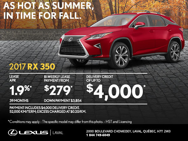 Lease the Brand-New 2017 Lexus RX 350 Today!