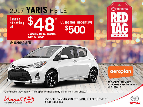 Lease the New 2017 Toyota Yaris