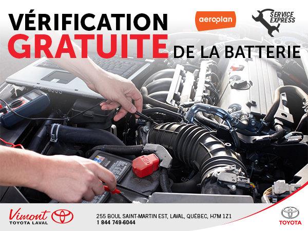 Vérification GRATUITE de la batterie