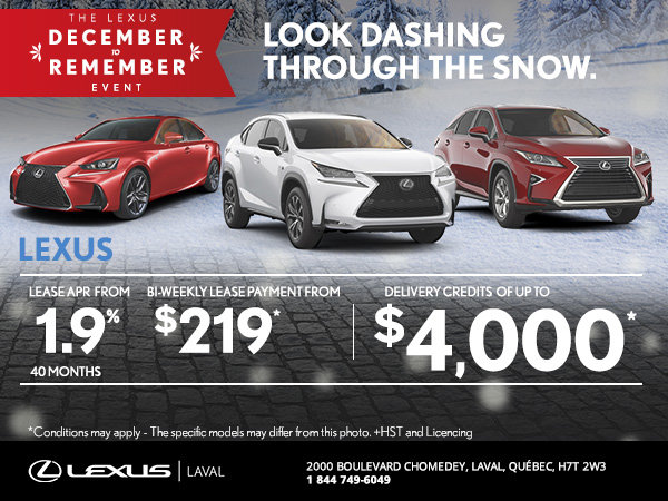 The Lexus December to Remember Event