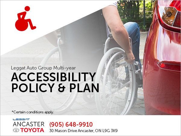 Leggat Auto Group Multi-Year Accessibility Policy and Plan