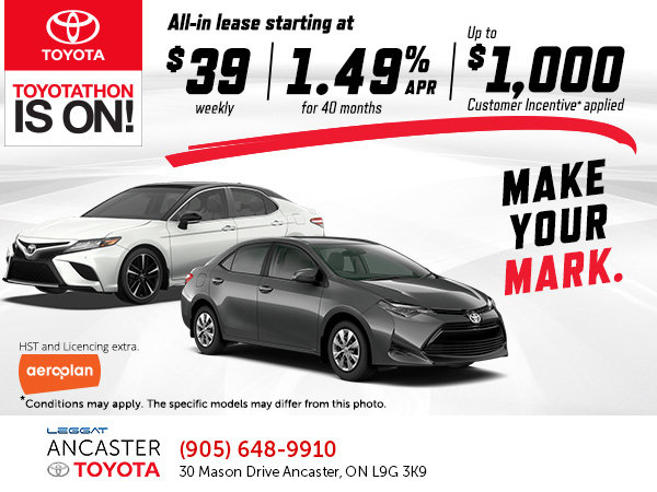 Toyotathon Sales Event at Ancaster Toyota