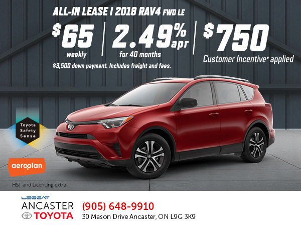 Lease the 2018 RAV4 Today!