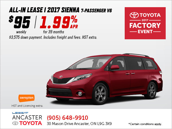 Save on the All-New 2017 Sienna