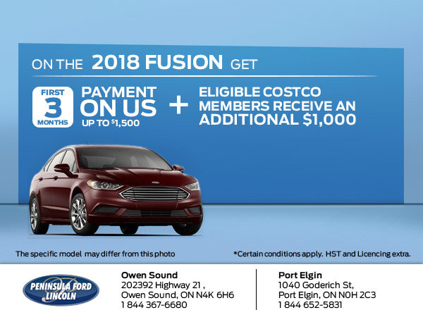 Save on the 2018 Fusion