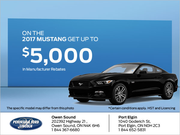 Save on the 2017 Mustang