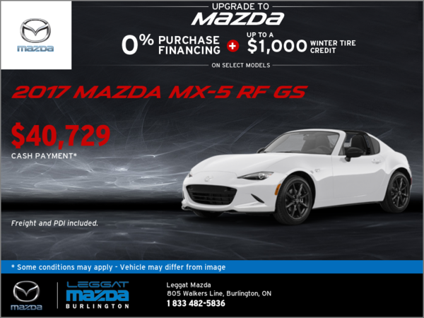 Save on the 2017 Mazda MX-5 RF GS!