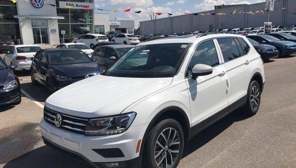 2018 Volkswagen Tiguan Comfortline 4MOTION  - $241.20 B/W