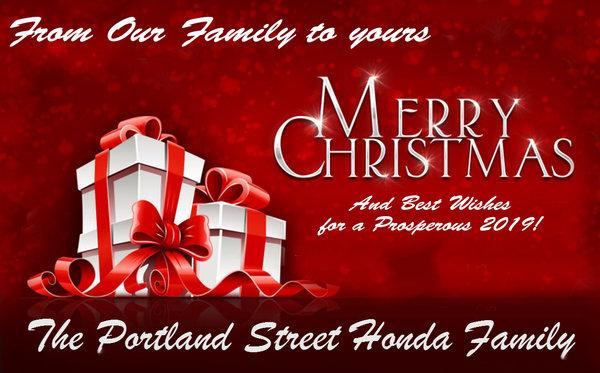 Merry Christmas from Portland Street Honda!