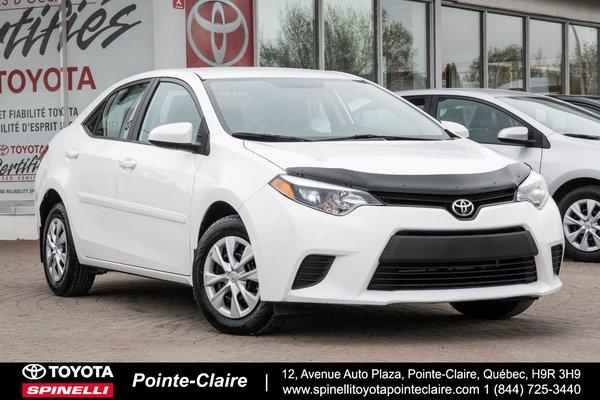 Toyota Pointe Claire >> 2015 Toyota Corolla
