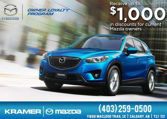 Mazda Owners Loyalty Program Kramer Mazda Promotion In Calgary - Mazda loyalty program