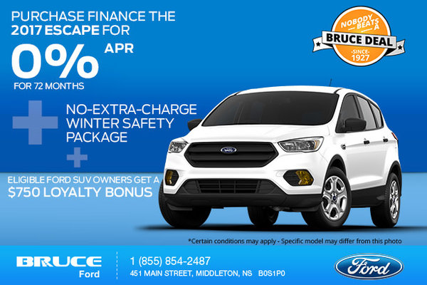 Save on a 2017 Ford Escape Now!