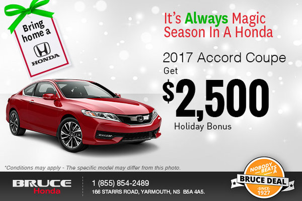 Get the 2017 Accord Coupe!