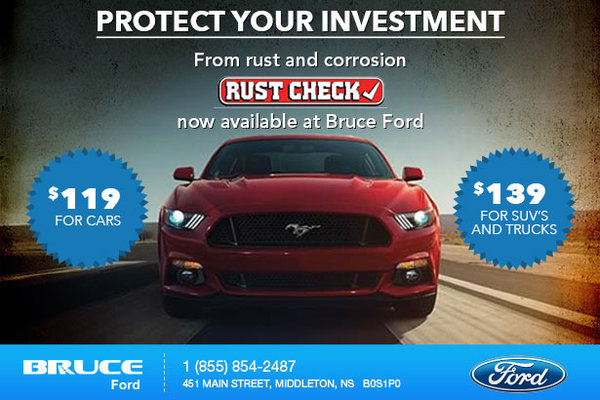 Bruce Ford is Now a Rust Check Dealer!
