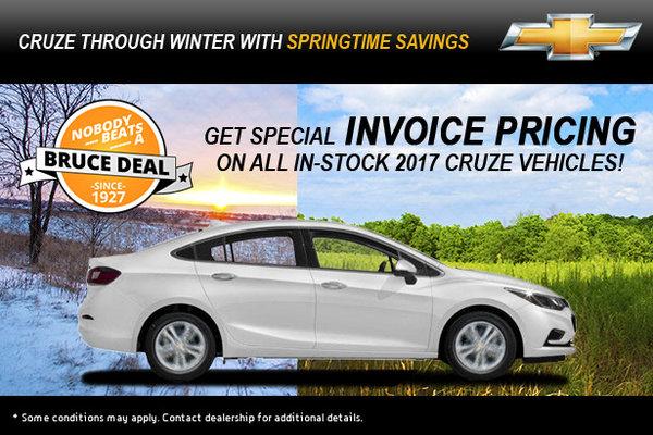 Cruze through Winter with Springtime Savings