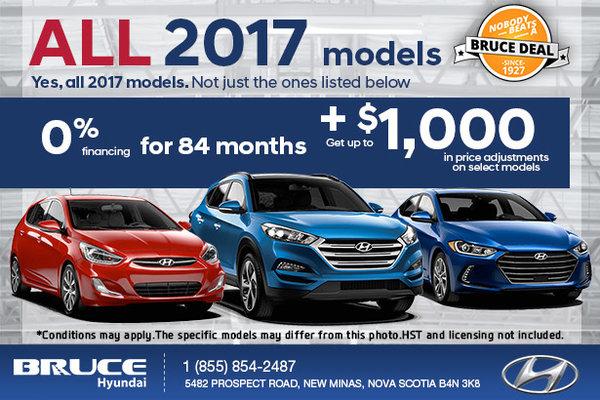 Save on All 2017 Hyundai Models!
