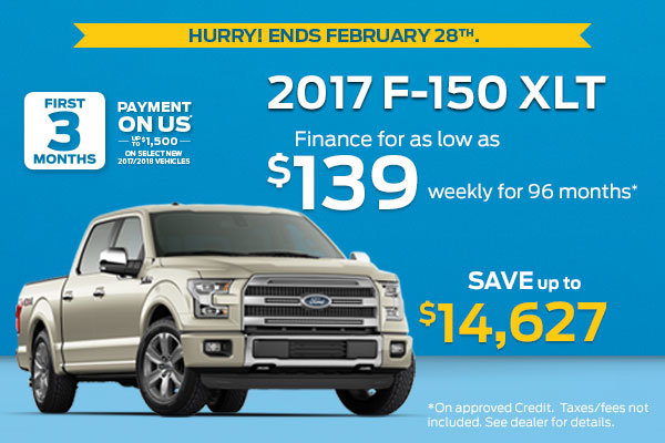 Get the 2017 Ford F-150 XLT