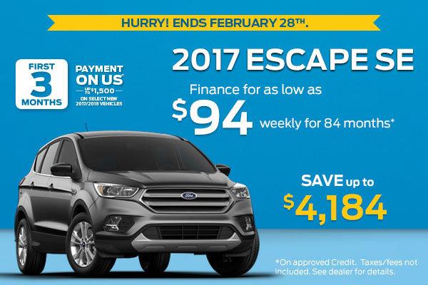 Get the 2017 Escape SE