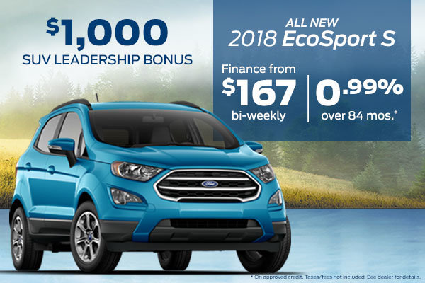Get the All New 2018 Ford EcoSport S