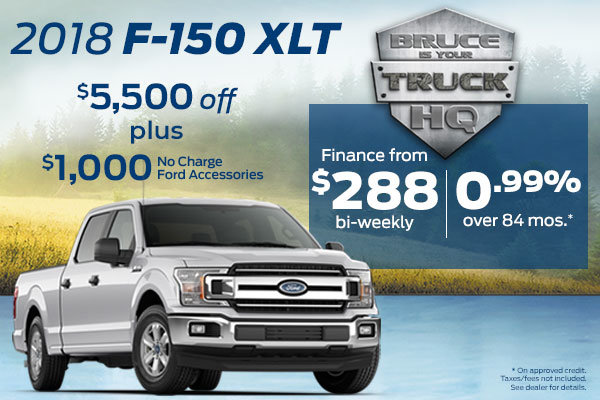 Get the 2018 Ford F-150 XLT