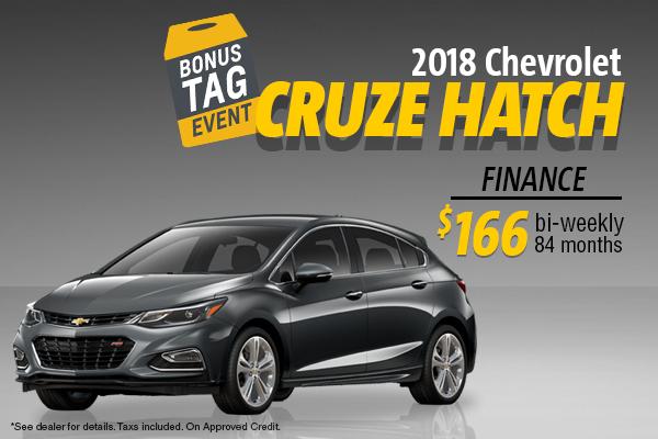 Finance the 2018 Chevrolet Cruze Hatchback