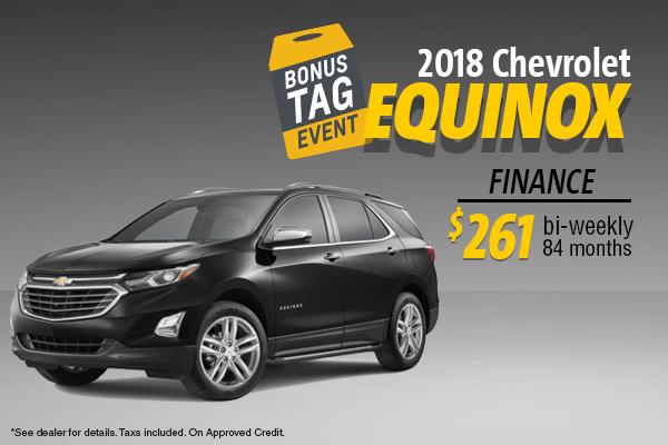 Finance the 2018 Chevy EQUINOX