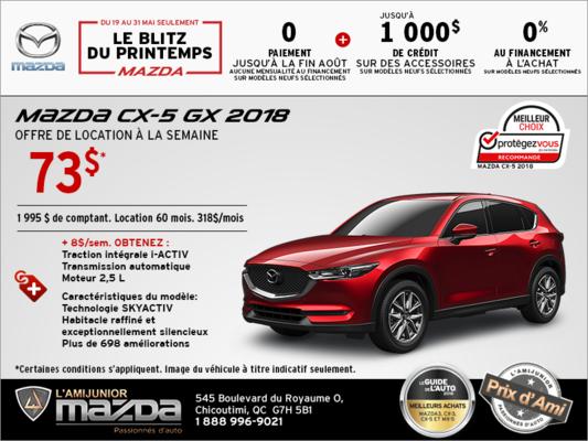 Louez la Mazda CX-5 2018 aujourd'hui!