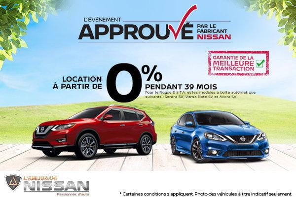L'événement Approuvé de Nissan!