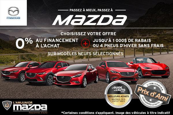 La vente mensuelle chez L'Ami Junior Mazda!